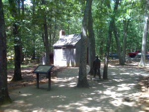 Replica of Thoreau´s House From a Distance