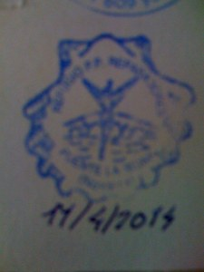 Our Stamp in Puente la Reina