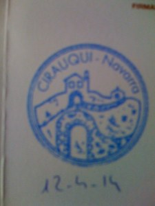 Two Hours I got to Cirauqui and Another Stamp