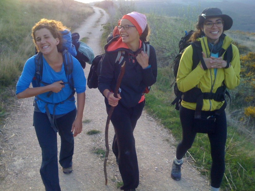 One of the BEST Pictures of Pilgrims on The Camino (From Left: Patricia, Gemma and Ana)