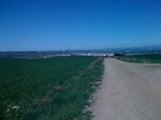 Santo Domingo de la Calzada in the Horizon