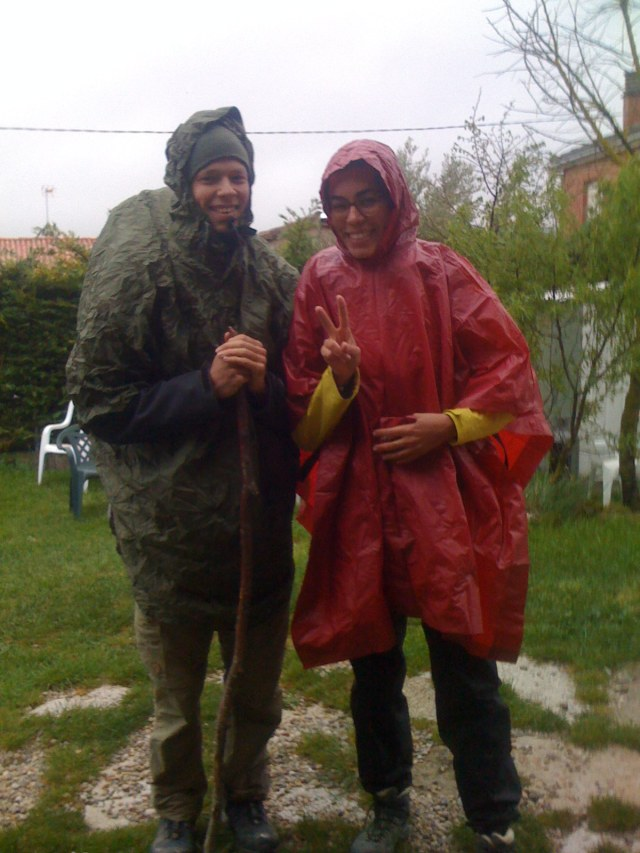 Two Cute Looking Human Turtles, Ready to Meet the Rain
