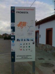 Entering Fromista